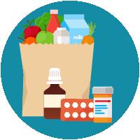 Prescription medicines and groceries