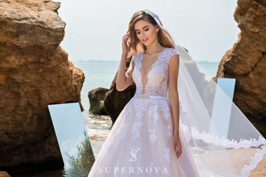 """весільна сукня кольору """"капучіно"""" оптом від Supernova"""