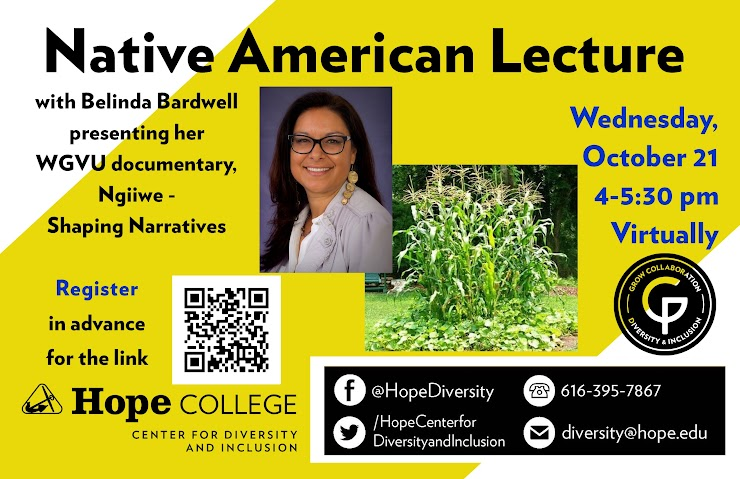 This lecture is on Wednesday, October 21 from 4-5:30 pm