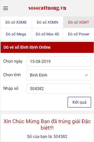 Website xosocattuong.vn