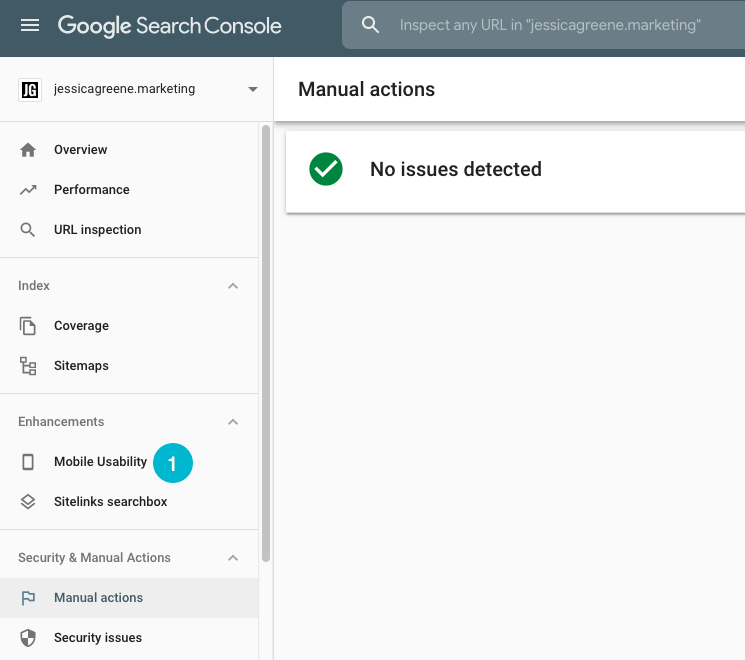 how to see if you have penalties in google search console