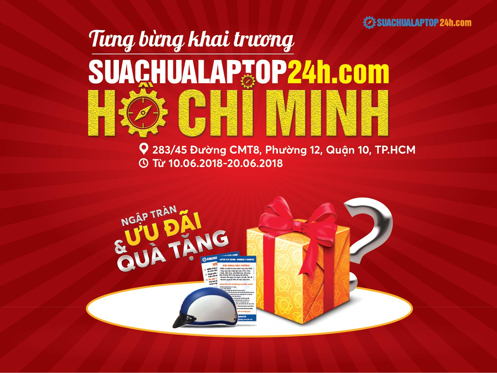 SUACHUALAPTOP24h.com khai trương chi nhánh mới tại tphcm