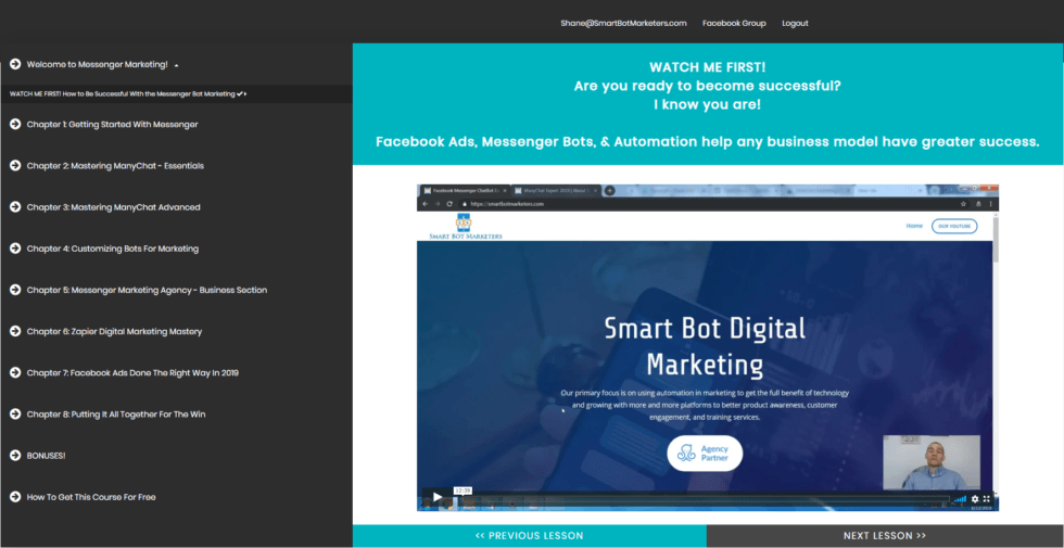 Smart Bot Marketers Course Modules