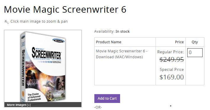 movie magic screenwriting software
