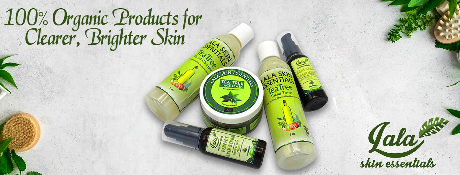 100% Organic Products for Clearer, Brighter Skin