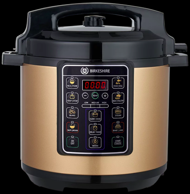 Truly digital pressure cooker with more than 36 preset menus for cooking. Source: Birkeshire
