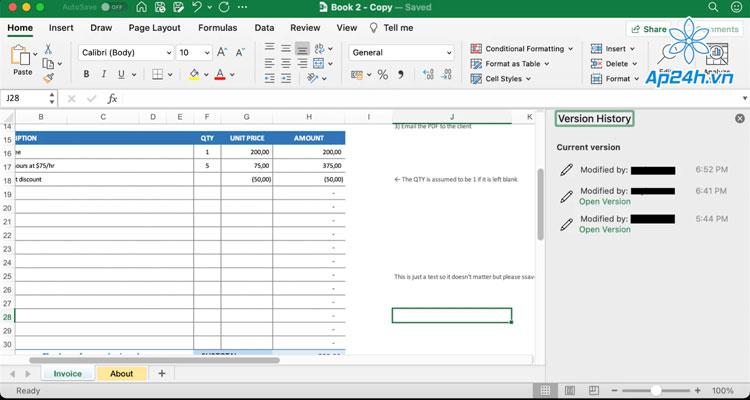 khôi phục tệp Excel trên Mac