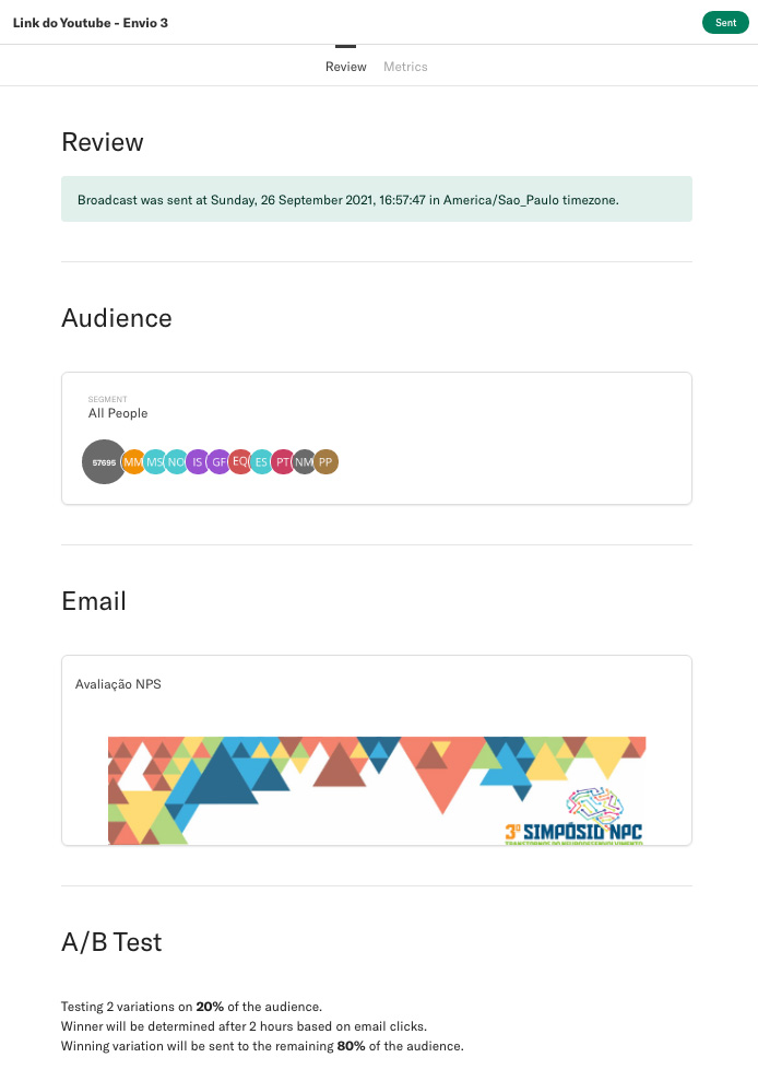 A/B testing in email marketing campaign
