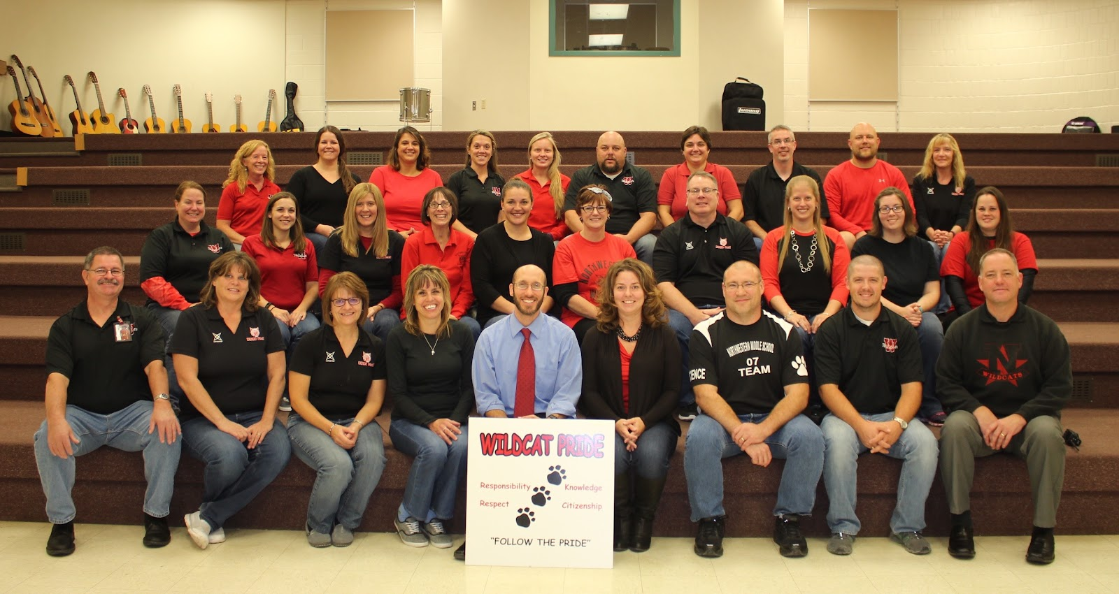 photo of the middle school staff
