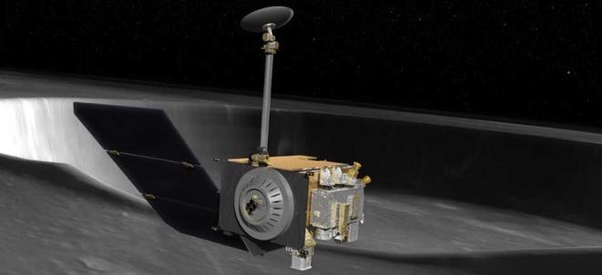LRO Illustration over Moon