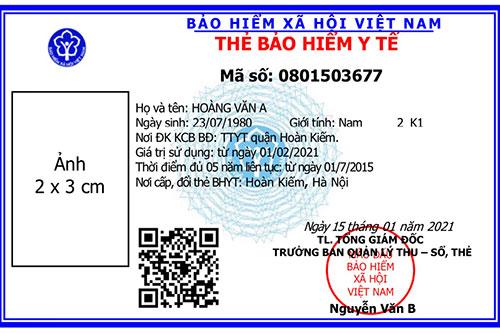 Mã số BHYT là mã số BHXH trên thẻ BHYT mới.