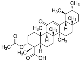 Image result for Acetyl-11-keto-β-boswellic acid chemical structure