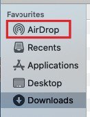 """Go to the """"Airdrop"""" tab in the left window"""