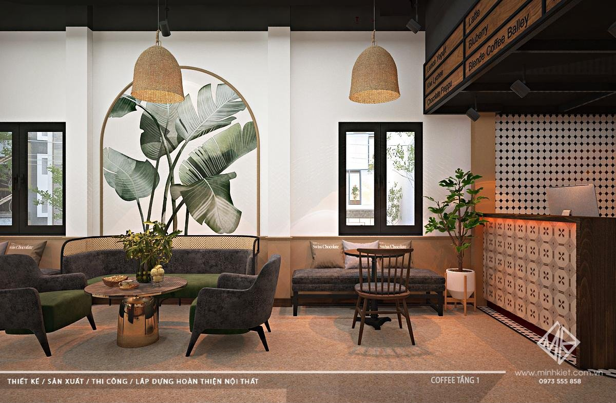 Thiết kế quán cafe từ 100-300 triệu