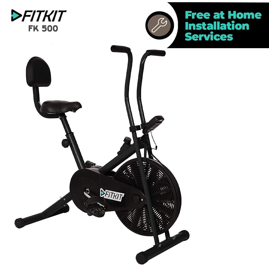 Fitkit FK 500 Steel Airbike Exercise Cycle