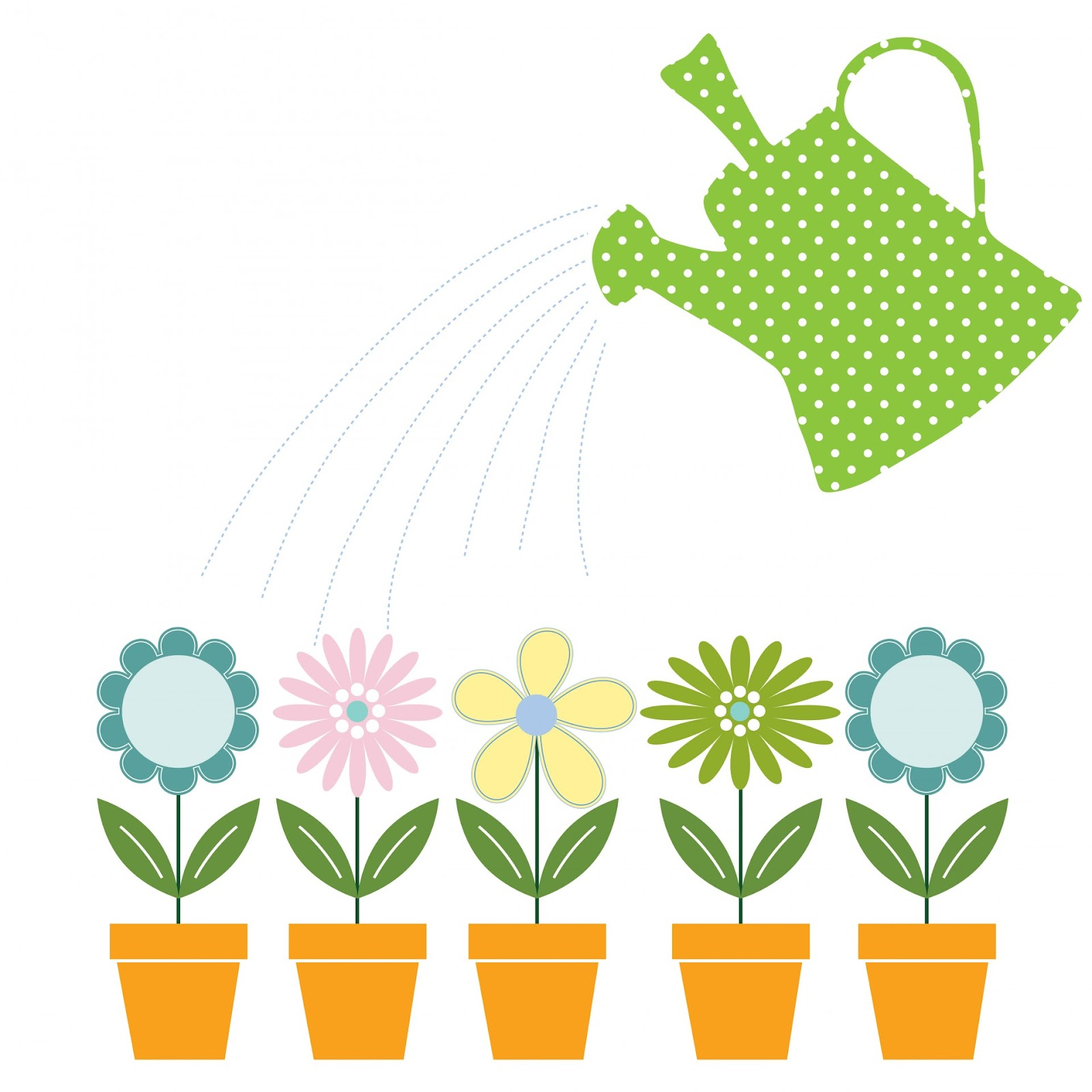 Flowers & Watering Can Clipart Free Stock Photo - Public Domain ...