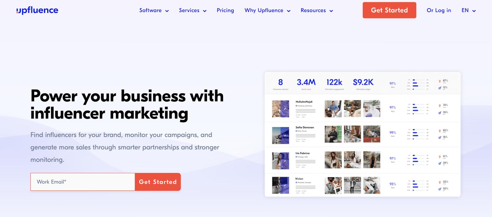 upfluence for tiktok influencer marketing