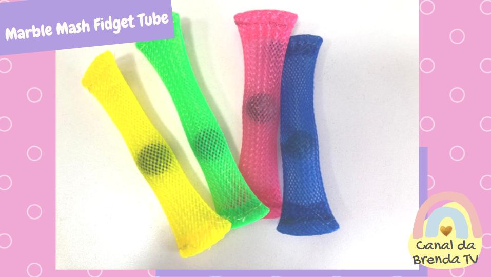 Marble mesh fidget tube