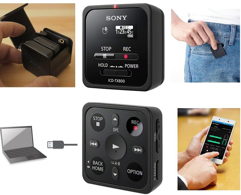 Máy ghi âm Sony ICD TX800/BCE (Đen) | Nhiều tiện ích hiện đại