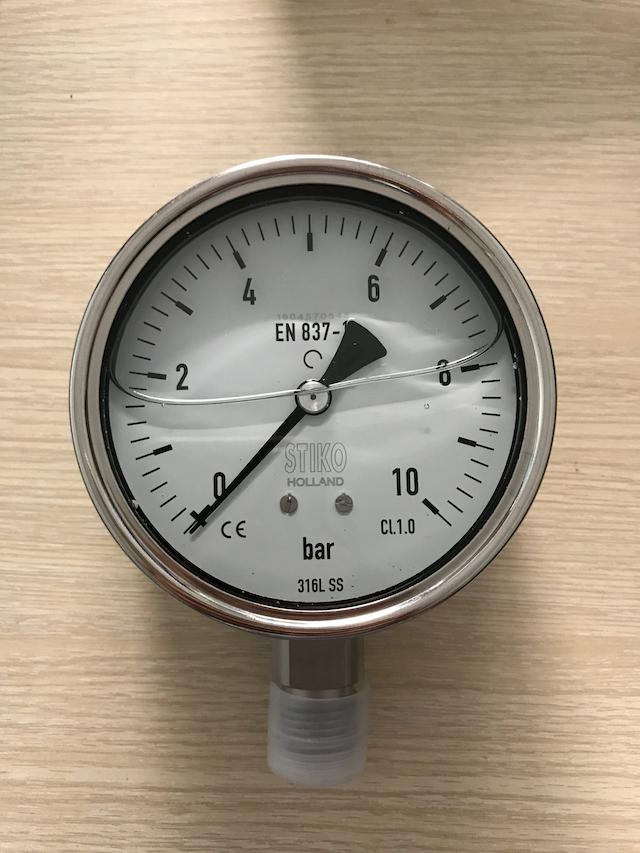 Các bộ phận chính của đồng hồ đo áp suất