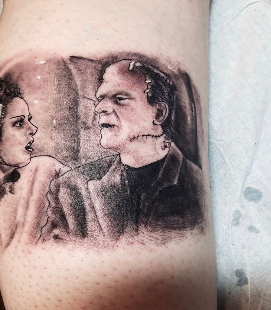 classic movie monster tattoo