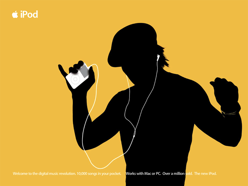 An advertisement for an iPod.