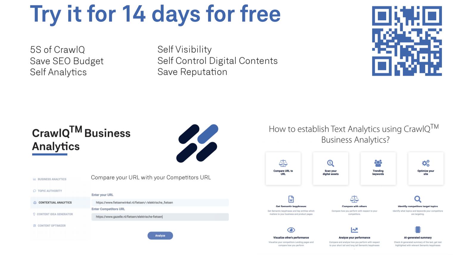 Topic Authority, Contextual Analytics, Content Optimisation and Content Idea Generator using AI in SEO Tool CrawlQ