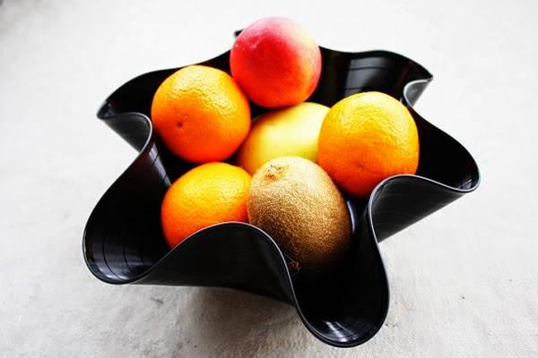 Fruteiro de disco de vinil