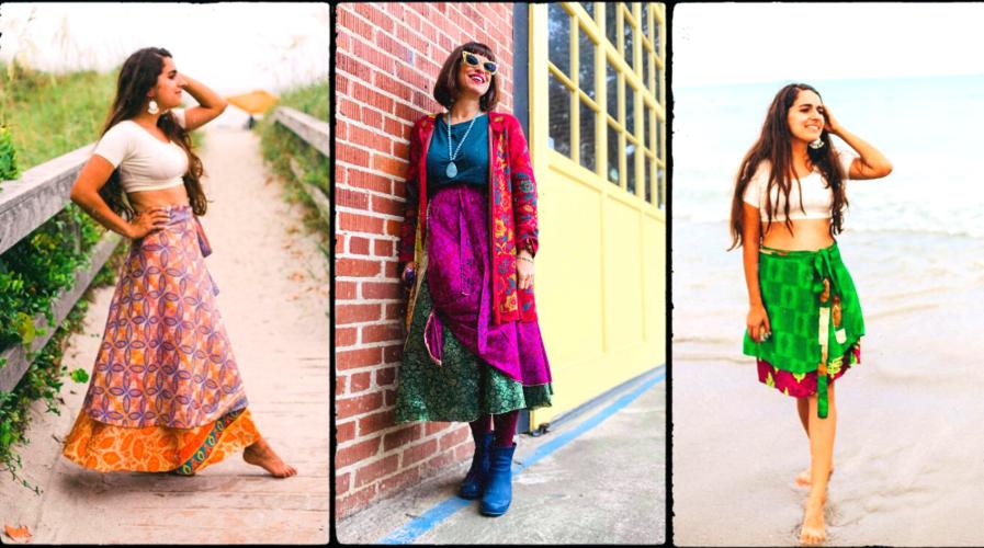 Darn Good Yarns Sari Skirts