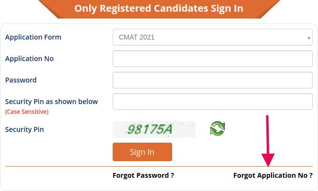 Retrieve Forgotten CMAT Application Number