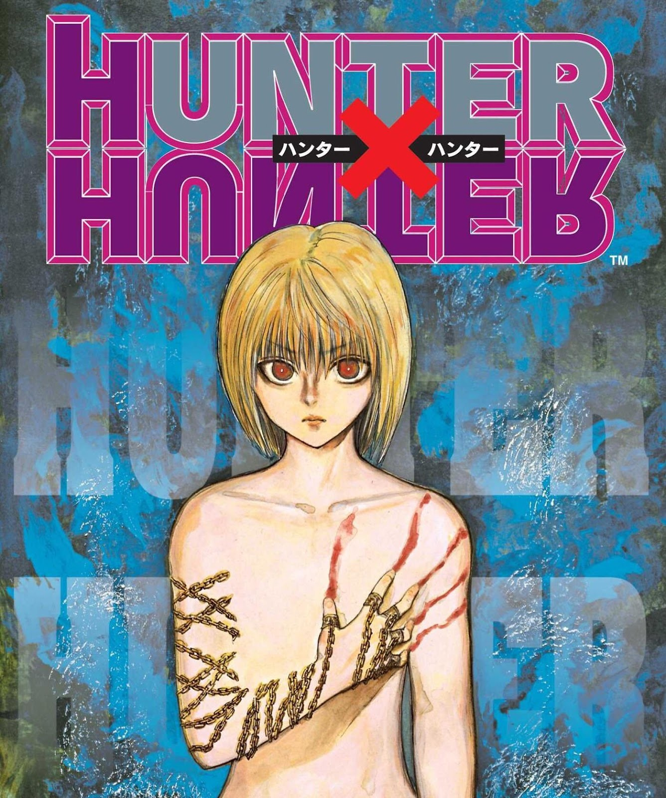 One of my favourite cover artworks from the manga! Kurapika looks so cold  and so in pain at the same time: HunterXHunter