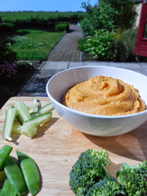Sweet potato healthy hummus recipe by Welcome to Mommyhood
