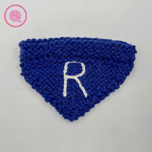 monogrammed pet bandana
