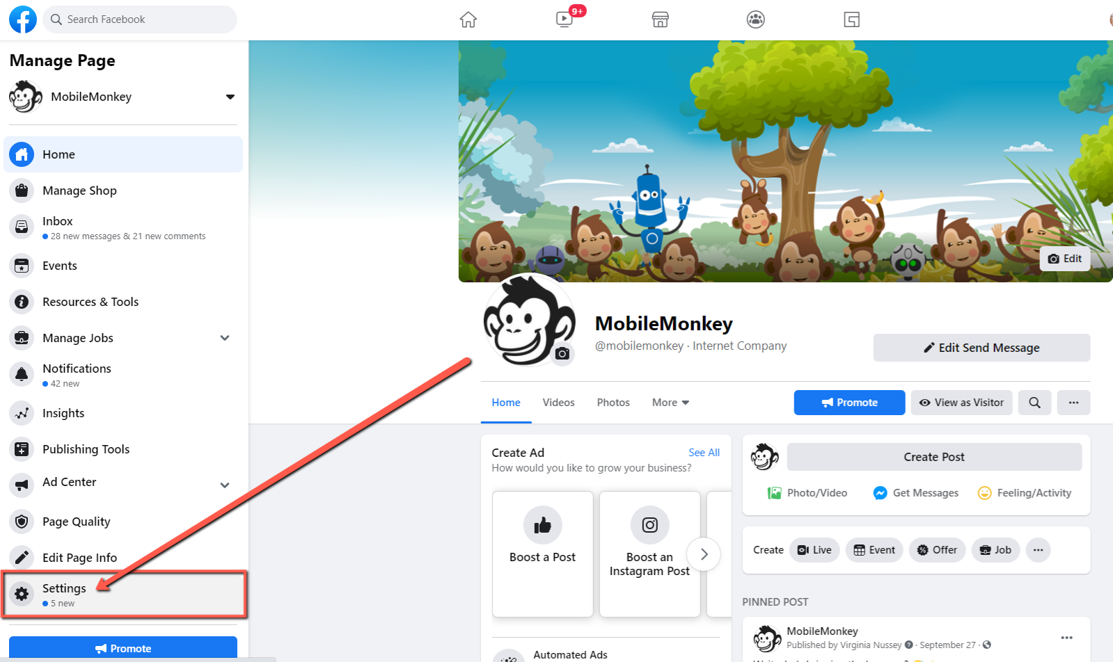 create a Messenger greeting for your Facebook Page Step 3