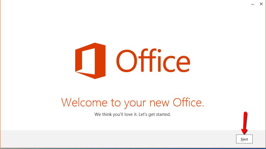 Office Install Start
