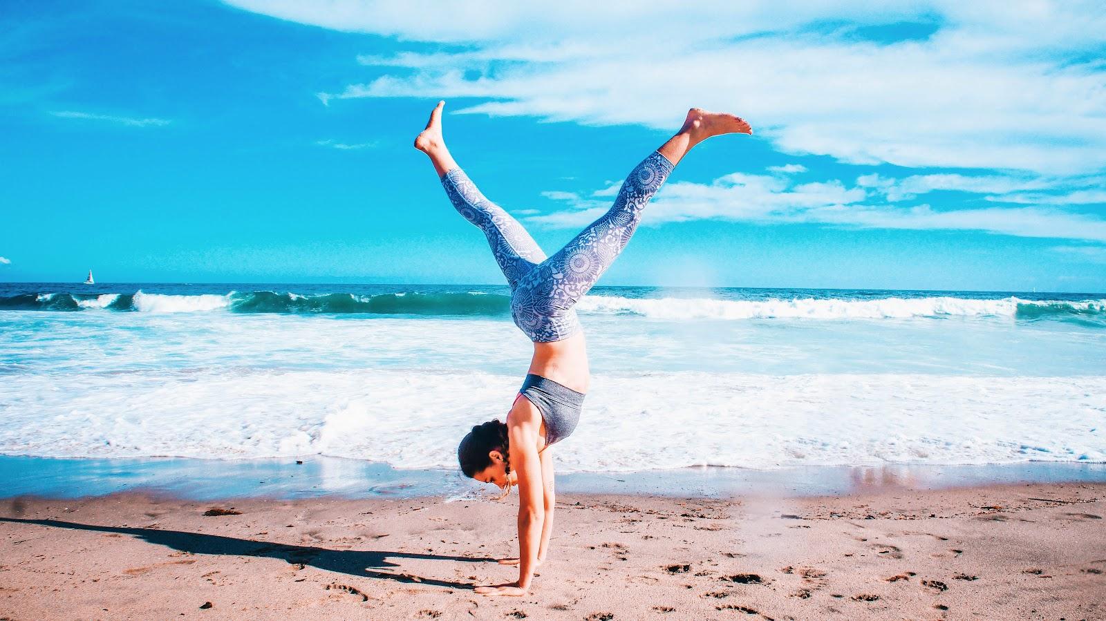 Тренировка на берегу моря