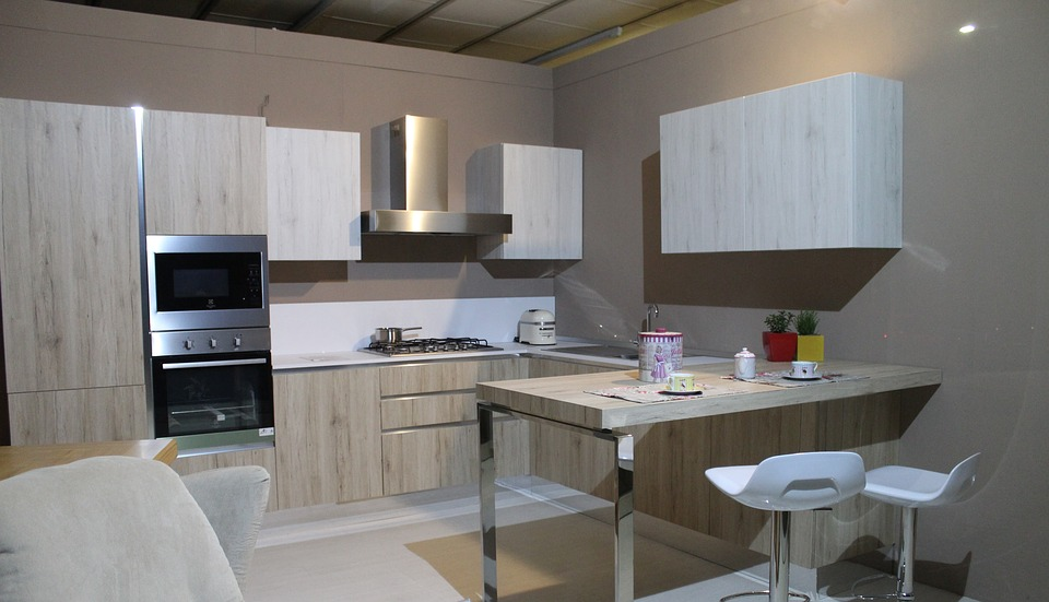 Kitchen, Modern Kitchen, Furniture, House, Interior