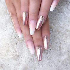 Ombre and metallic pink