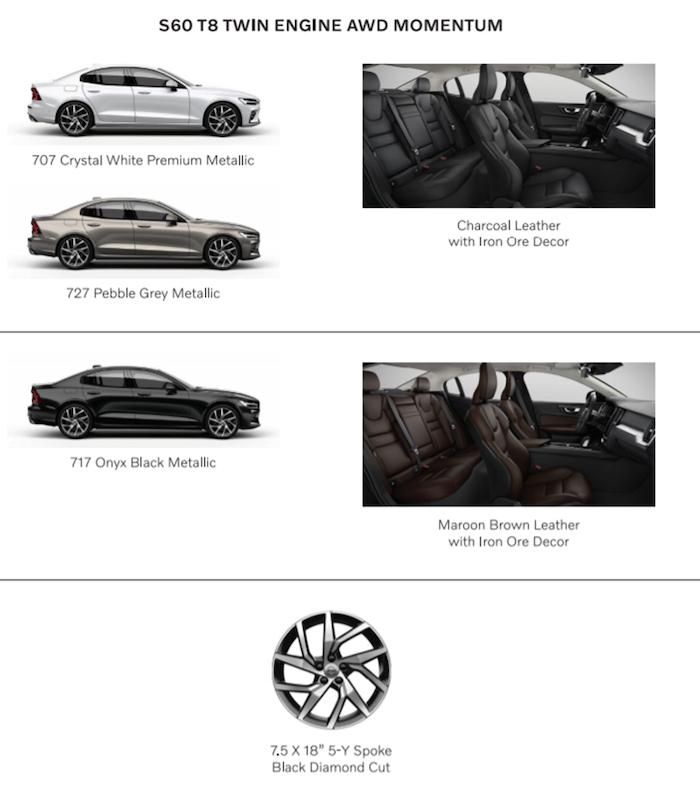 สีตัวถัง Volvo S60 Momentum