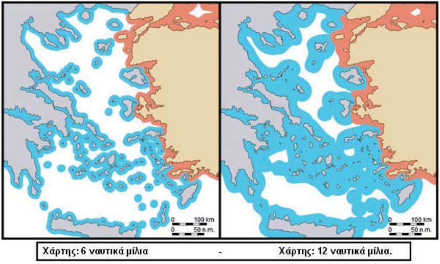 Αποτέλεσμα εικόνας για επεκταση χωρικων υδατων