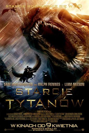 Przód ulotki filmu 'Starcie Tytanów'