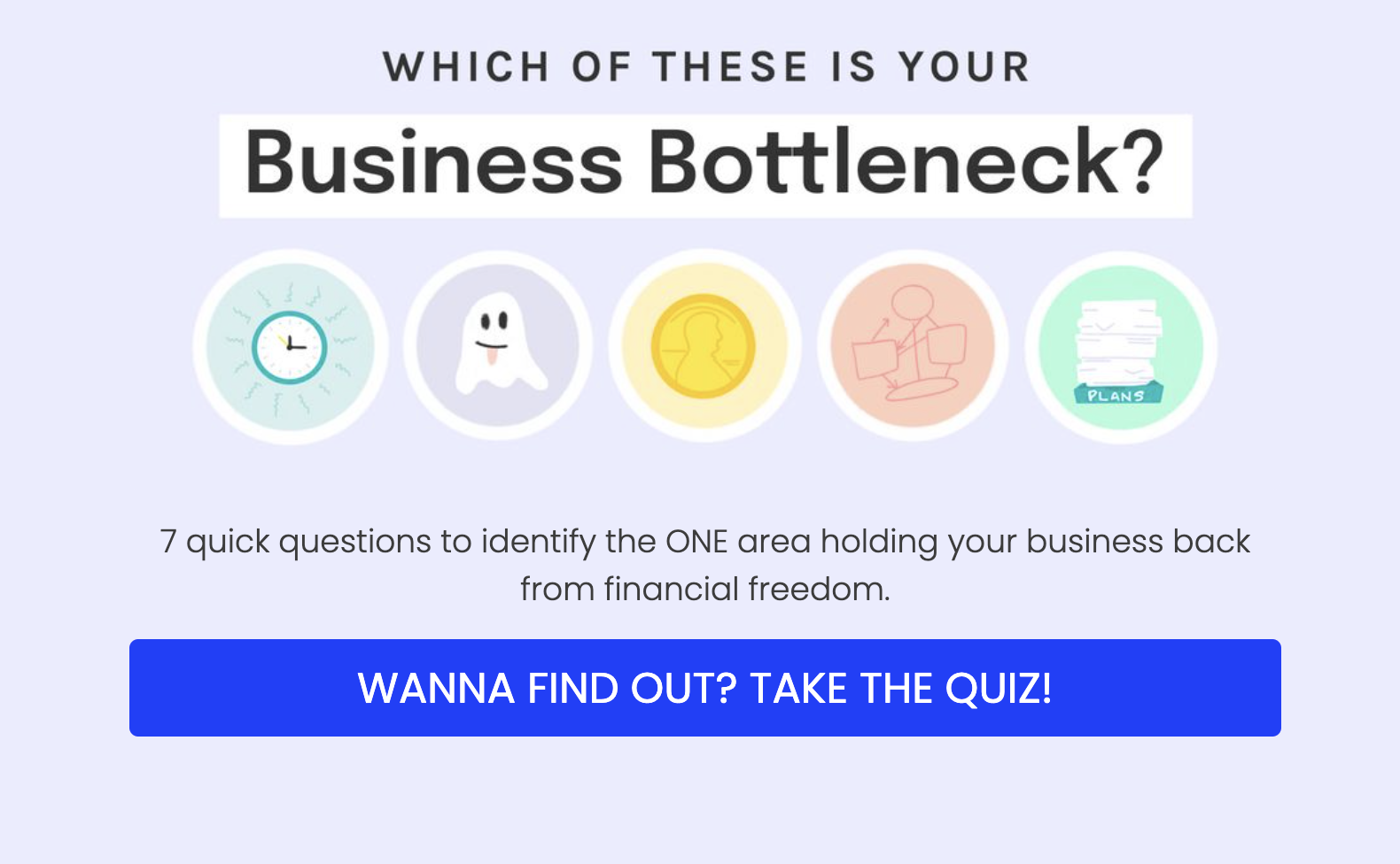 Which of these is your business bottleneck quiz cover