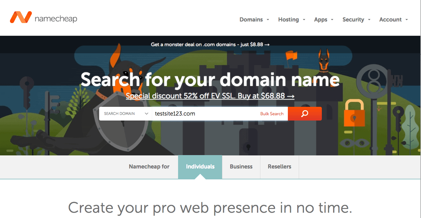 Namecheap a alternative for siteground.