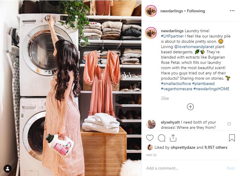 newdarlings sponsored instagram post