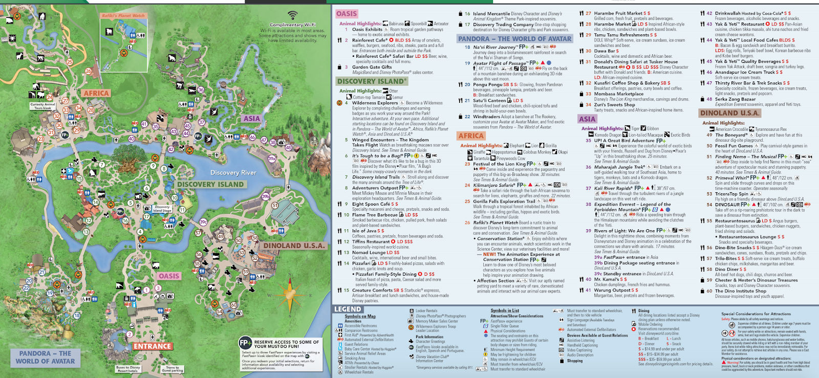 map of Animal Kingdom with a Toddler