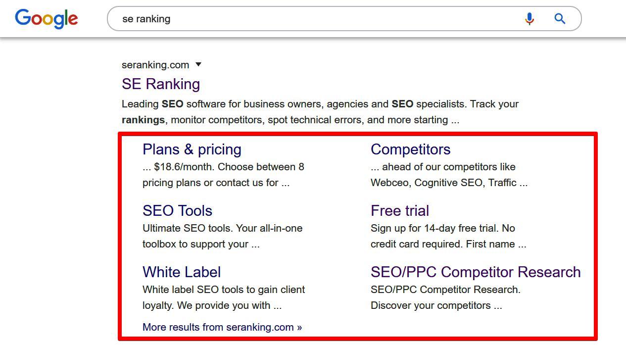Website Optimization for Google Sitelinks