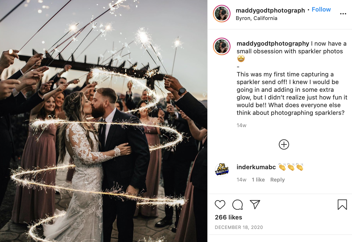 using wedding sparklers at a wedding