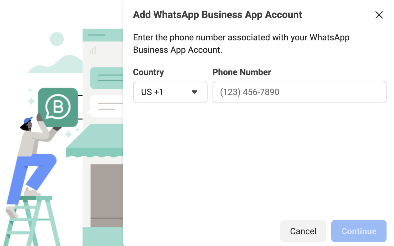 Adding Whatsapp number to facebook business manager