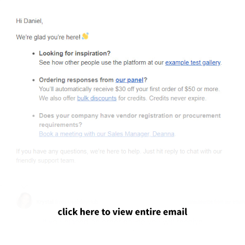 Mailigen Welcome Emails UsabilityHub