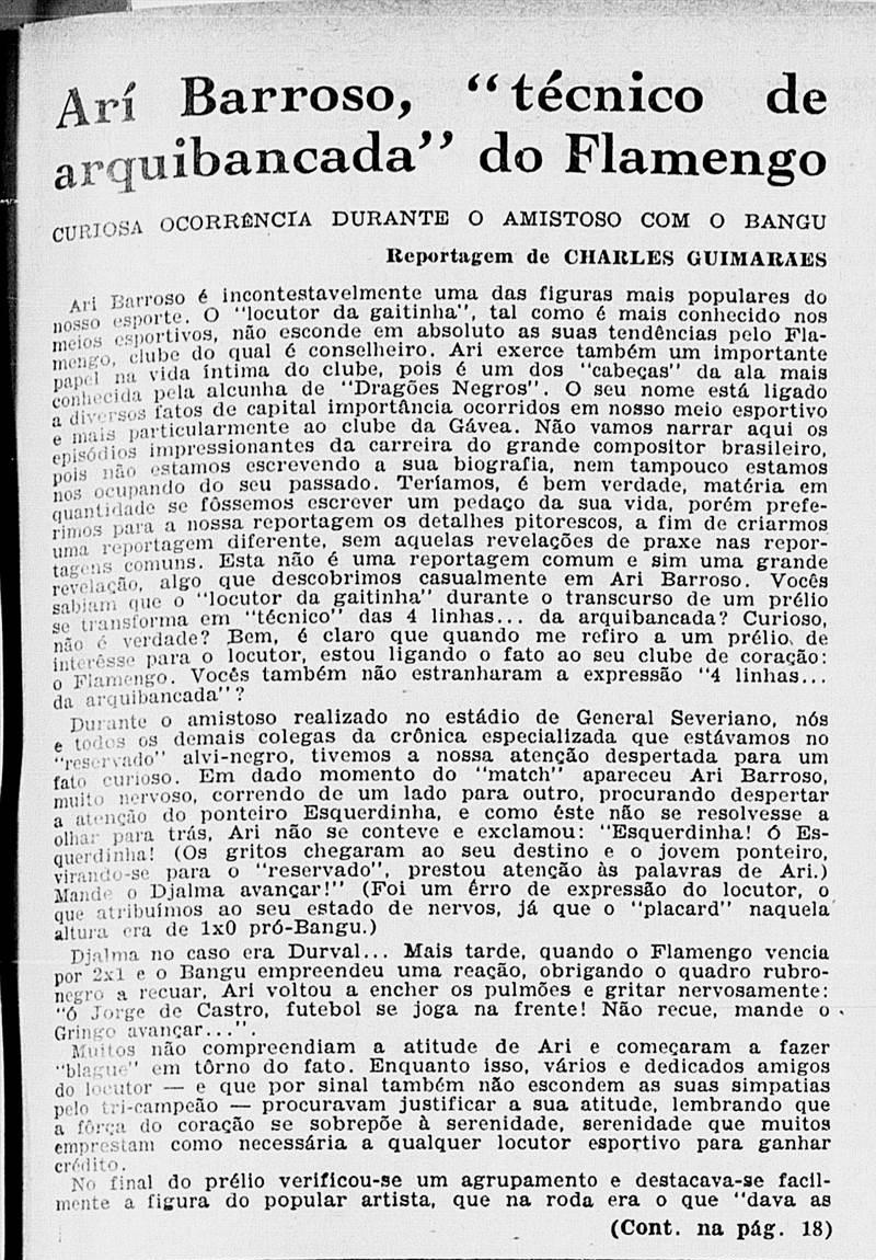 Jornal detalha parcialidade da Imprensa favorável ao Flamengo